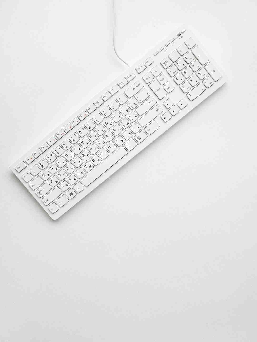 Comment réinitialiser les touches de mon clavier ?